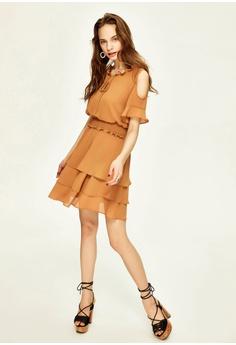 a442c574b262 Hopeshow Cold Shoulder Tiered Dress RM 149.00