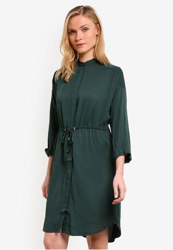 WAREHOUSE green Drawstring Shirt Dress WA653AA0RO91MY_1