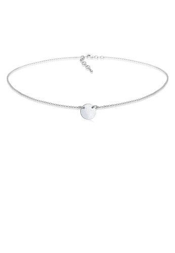 Elli Germany silver Silver Plated Circle Choker Necklace EL474AC0RFHNMY_1