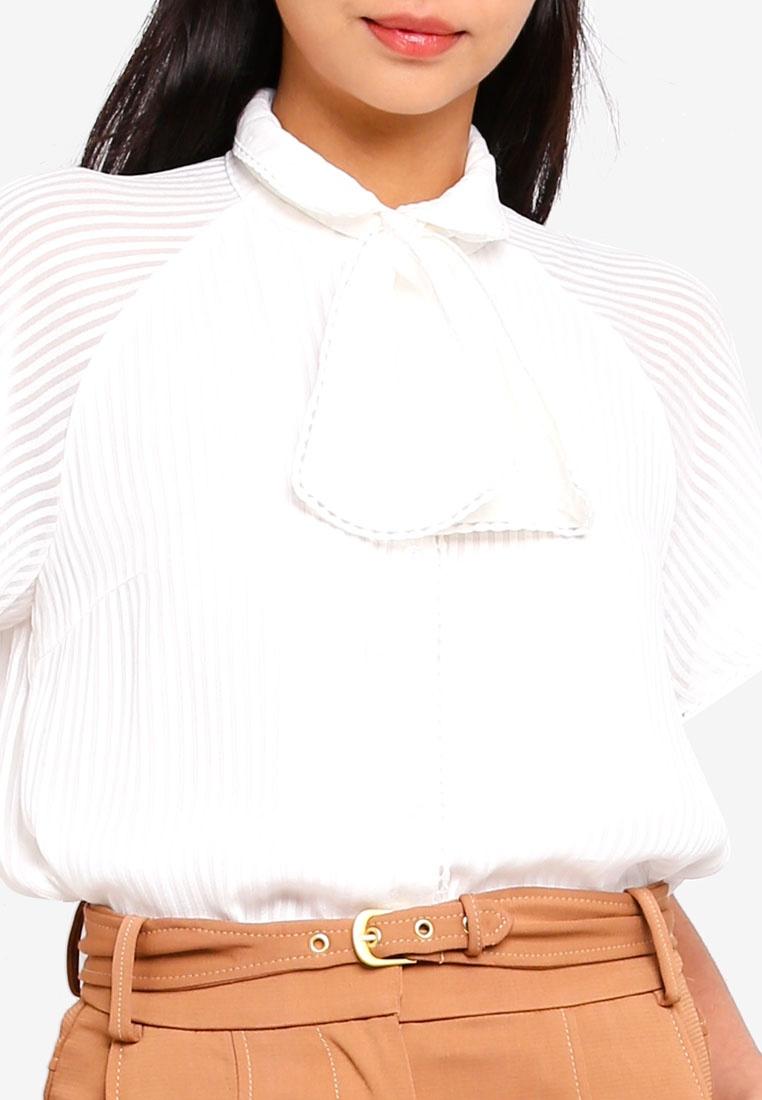 ESPRIT White Blouse White White Striped ESPRIT B7x4qwa6x