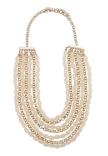 Layered Drape Bead & Ring Chesprit品牌介绍ain Necklace, 飾品配件, 項鍊