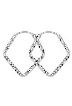 Diamond shape Loop Earring