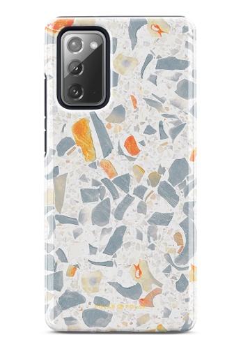 Polar Polar grey Terrazzo Grey Dual-Layer Tough Case Glossy For Samsung Galaxy Note20 5G 13086ACCE93A8FGS_1