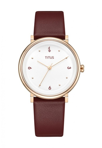 Solvil et Titus red Nordic Tale 3 Women's 3 Hands Quartz Watch In Silver White Dial And Burgundy Leather Strap 28541ACE0BC1B5GS_1
