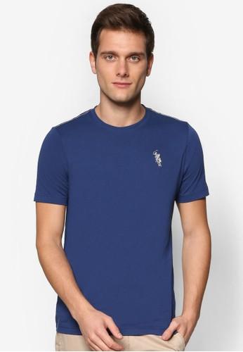 刺esprit高雄門市繡品牌素色TEE, 服飾, 素色T恤