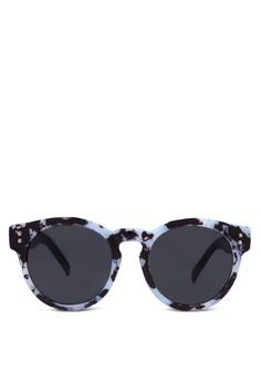 【ZALORA】 印花圓框太陽眼鏡