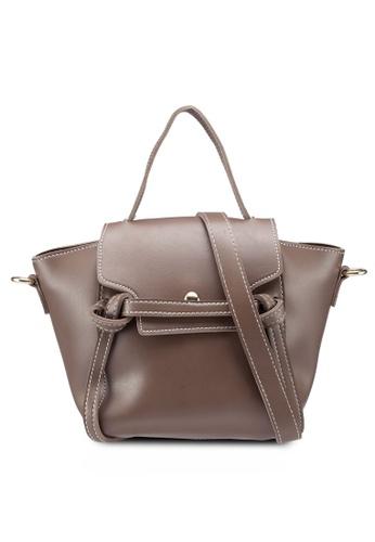 Berrybenka grey and brown Ashina Decca Satchel Bag 1CE19AC4FB9467GS_1