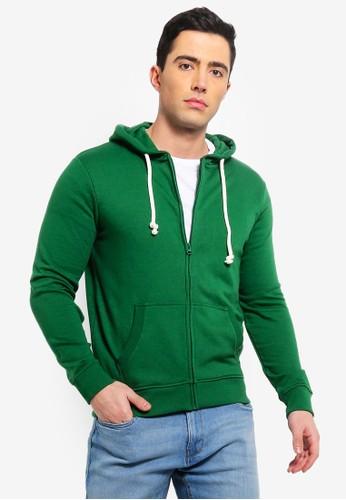 OVS green Full Zip Sweatshirt With Hood 99E05AAD36231AGS_1