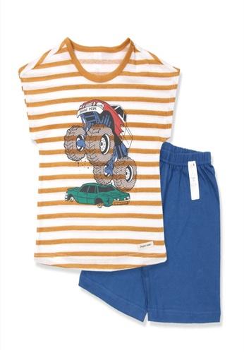 Organic mom orange Organic Cotton Rolie Vehicle Pajamas BC3FFKA1DFDEAEGS_1