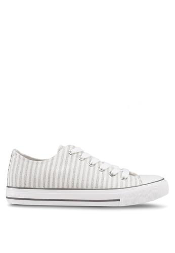 Rubi 灰色 條紋低筒運動鞋 11A94SHC726463GS_1