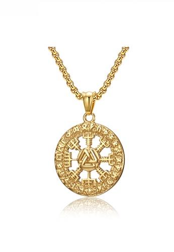 HAPPY FRIDAYS gold Historical Symbol Necklace JW QF-DZ377 D6DB6AC4DD18DAGS_1