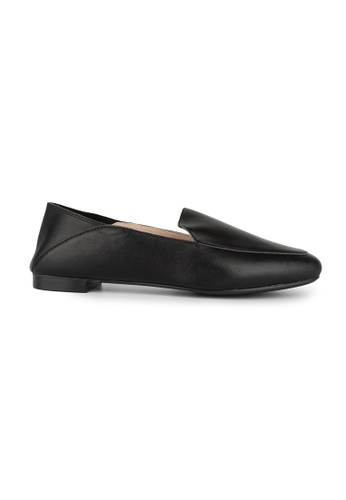 MAUD FRIZON black Kid Leather Square Toe Loafers 3D0F4SHBA9B4A3GS_1