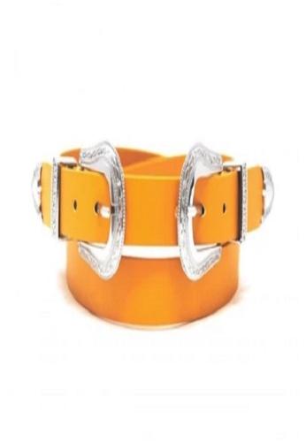 the Flash No buckle belt Buckle-less belt Brown leather belt