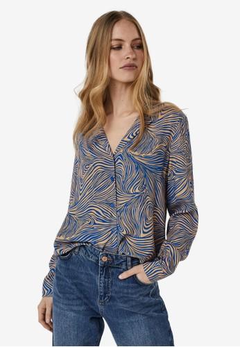 Vero Moda blue Printed Shirt B0EE0AAC2C10BAGS_1