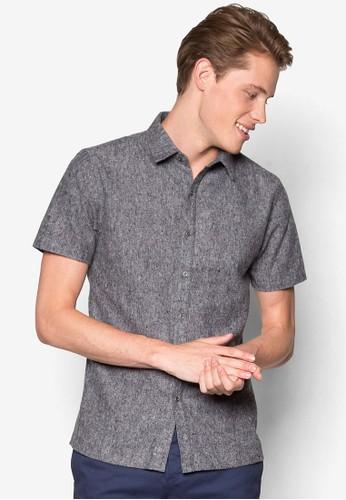 棉質短袖襯衫、 服飾、 素色襯衫ZALORA棉質短袖襯衫最新折價