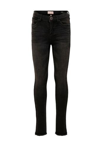 ONLY black Blush Skinny Raw Jeans FA92FKAB7626E1GS_1