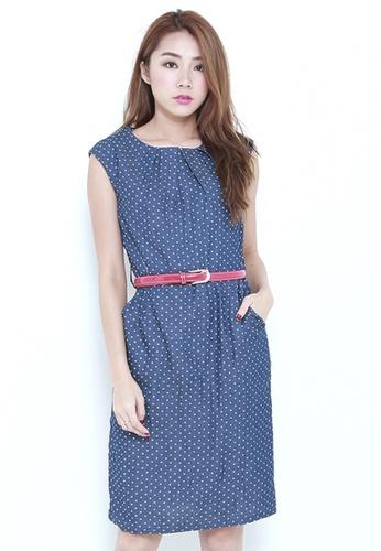 Leline Style blue Mindy Polka Dots Dress LE802AA68FLRSG_1