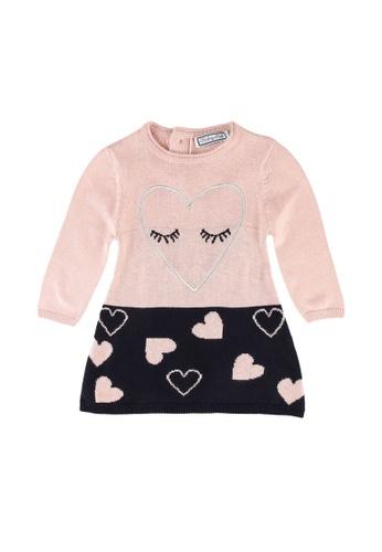 Babybol pink Baby Heart Dress 4FE9EKAAA9E584GS_1