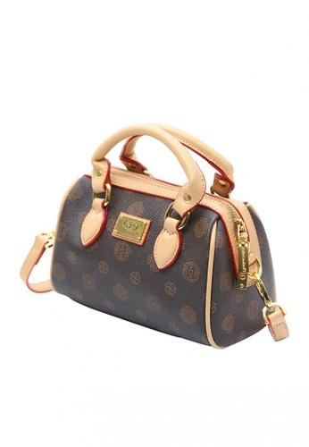 Baellerry brown Classic Pattern Crossbody Hand Bag 8699DACCC8B3E8GS_1