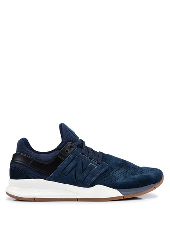 New Balance navy 247 Luxe Leather Shoes 33F49SHBE1D473GS_1