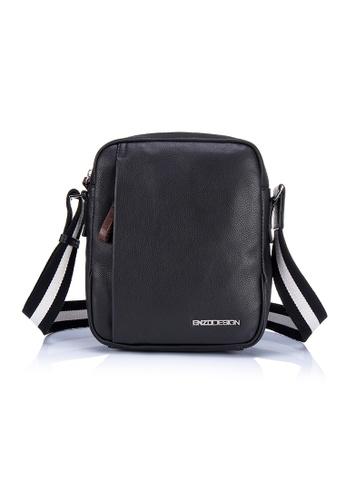 ENZODESIGN black ENZODESIGN Men's Leather Cross Body Bag EN357AC0FQQ1SG_1