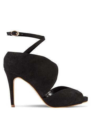 Something Borrowed black Peep Toe Ankle Strap Bootie Heels FCFFESH383E794GS_1