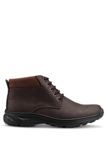 Rocklander brown Matarazo Faux Leather Ankle Boots 63EDBSHA0DAACEGS_1