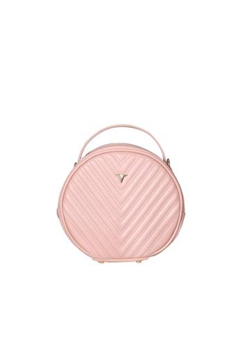 Verchini pink Verchini Round Tote Bag E2FDBAC0821916GS_1