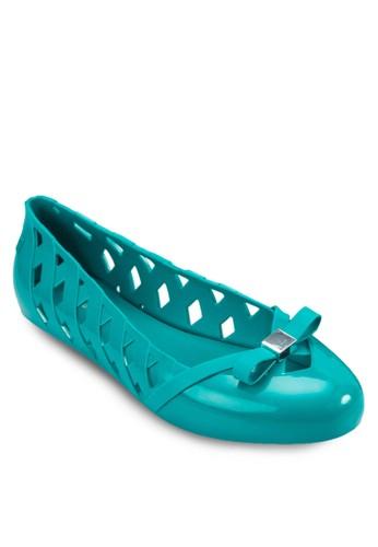 Praia 蝴蝶結鏤空平esprit分店地址底鞋, 女鞋, 芭蕾平底鞋