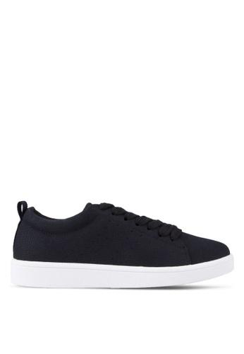 ZALORA black Laced-Up Sneakers 1CAB2SH2E9D508GS_1