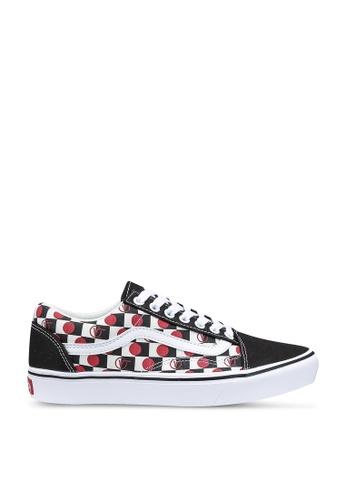 VANS black ComfyCush Old Skool Drop V Check Sneakers E2EAASH54BB598GS_1