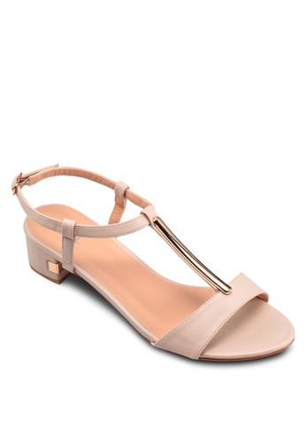 T字帶低esprit hk store跟繞踝涼鞋, 女鞋, 鞋