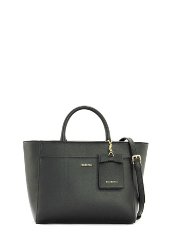 SEMBONIA black Synthetic Leather Satchel Bag (Black) SE598AC0RWLLMY_1