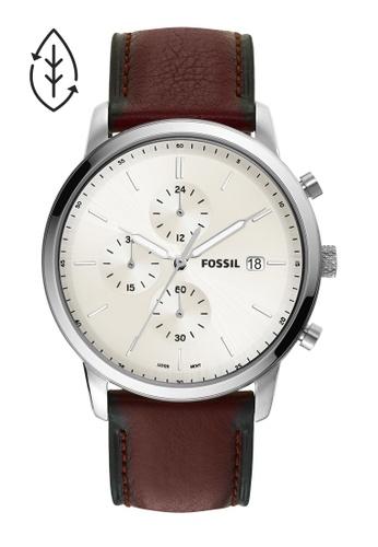 FOSSIL brown Minimalist Watch FS5849 91CF3ACCC17B0FGS_1