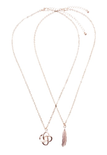LUCCACAL gold Mother & Daughter Necklace Set LU294AC0SZNTMY_1