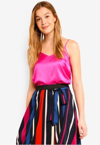 Vero Moda pink Vally Singlet Top 5620BAADC1EED8GS_1
