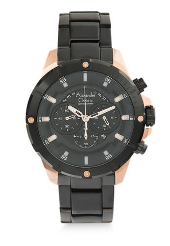 Alexandre Christie black Alexandre Christie Jam Tangan Pria - Black Rosegold - Stainless Steel - 6529 MCBBRBA 3BA6DAC0BC306FGS_1