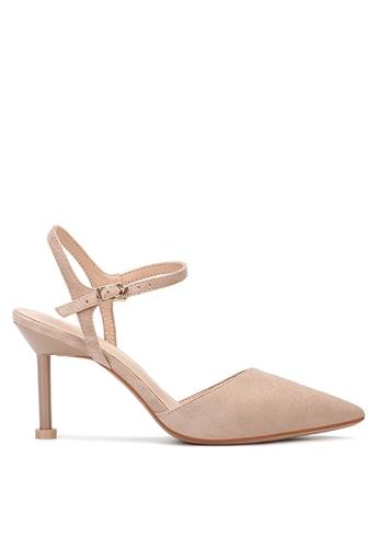 Twenty Eight Shoes 米褐色 繞踝帶幼踭鞋195-30 5B2D1SHF159436GS_1