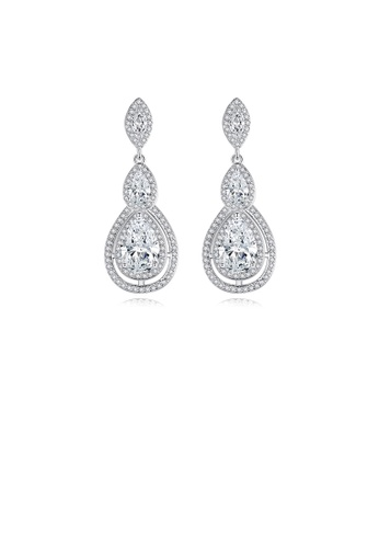 Glamorousky white Fashion Bright Water Drop Earrings with Cubic Zirconia F0CF8AC7CD150CGS_1