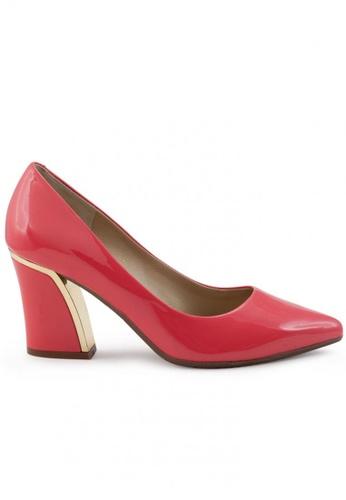Shu Talk orange Elegant Patent High Heel Pointed Toe Pumps SH397SH0FPKISG_1