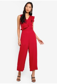 91fd347e3e1 Wide Leg V-Neck Jumpsuit 00300AA48EFE91GS 1