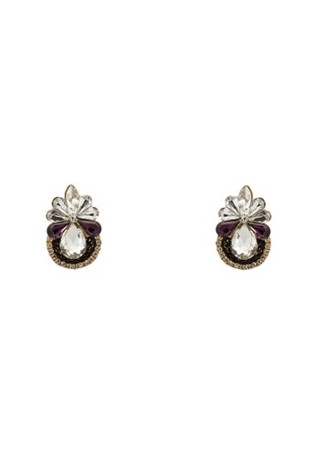 Gatsby 閃鑽鉚釘耳環,esprit 見工 飾品配件, 耳釘
