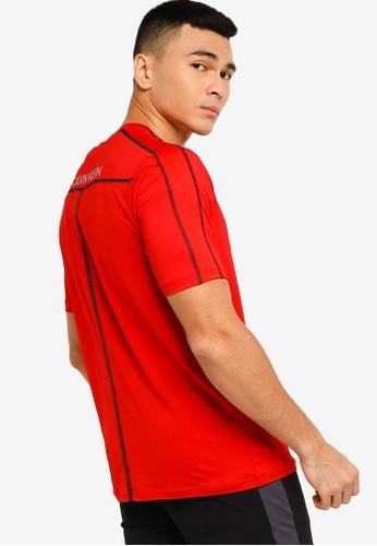 Calvin Klein red Active Icon Workout Tee - CK Performance 1E4BAAA013BA13GS_1