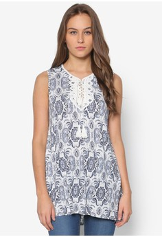 Sleeveless Paisley Top