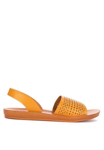 CLN brown Zoya Slingback Sandals 69E09SH5F4576AGS_1