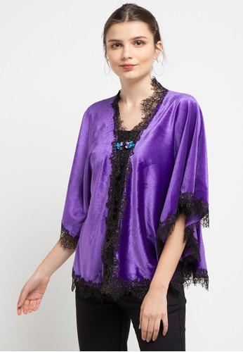 LUIRE by Raden Sirait purple and multi V-Kebaya Reling 37398AA26081DAGS_1