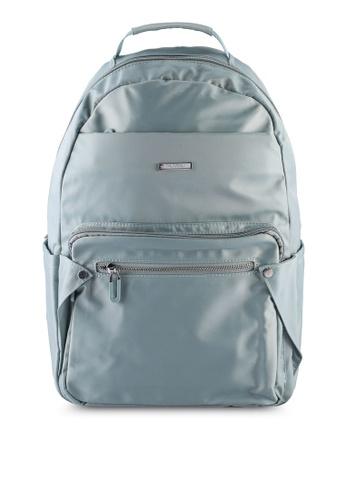 NUVEAU blue Lightweight Nylon Backpack 5E222AC2FD78CDGS_1