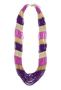 Long Strands Gold and Two Tone Necklace