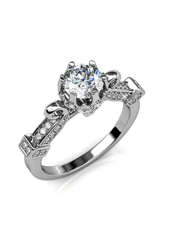Her Jewellery silver Imperial Ring (White Gold) - Made with premium grade crystals from Austria 62782AC52A6570GS_1