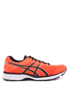 Asics black and orange and silver Gel-Galaxy 9 Sneakers AS445SH0KAEBPH_1